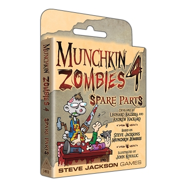 Munchkin Zombies 4 Spare Parts Expansion Cards